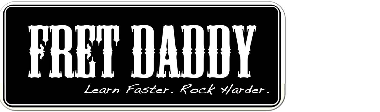Fret Daddy Logo - Fretdaddy Removable Fretboard Stickers